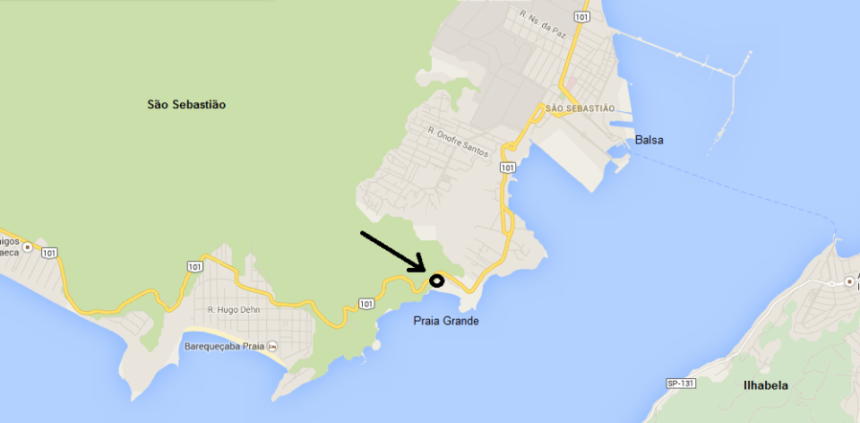 Mapa - Escola de Vela de São Sebastião