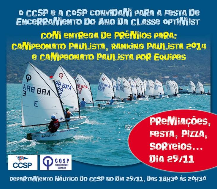 Convite para festa de encerramento COSP