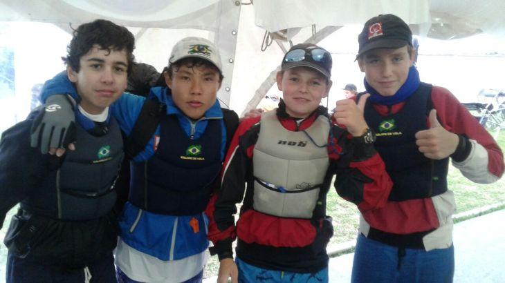 Laercio, Nicolas, Mathias e Lars