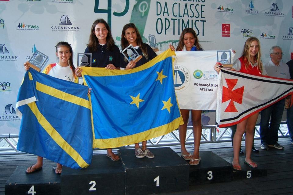 Premiação de Marina Heinke - 5º lugar na categoria infantil feminino