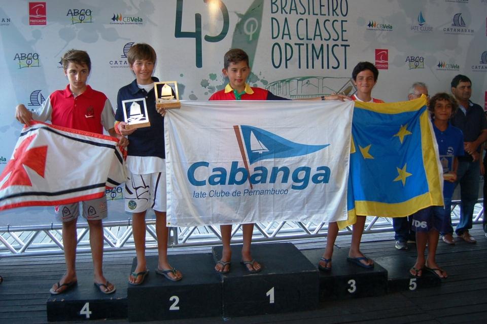 Premiação de Gabriel Marques - 4º lugar na categoria juvenil masculino