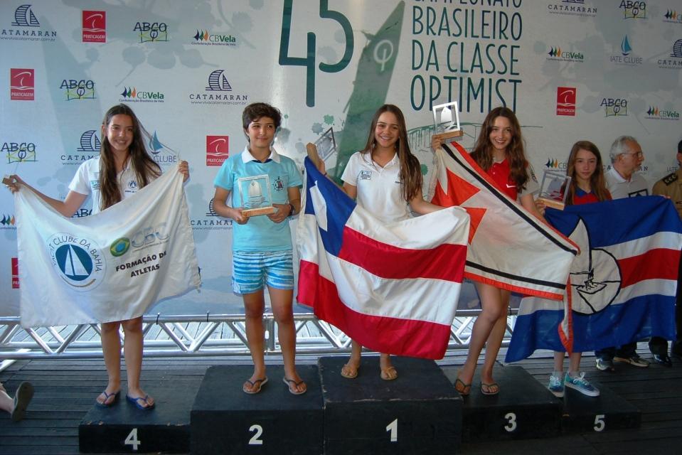 Premiação de Nicole Joop - 3º lugar na categoria juvenil feminino