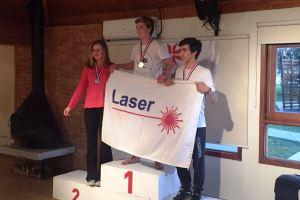 Premiação da classe laser (Foto: Maurício Mittempergher)